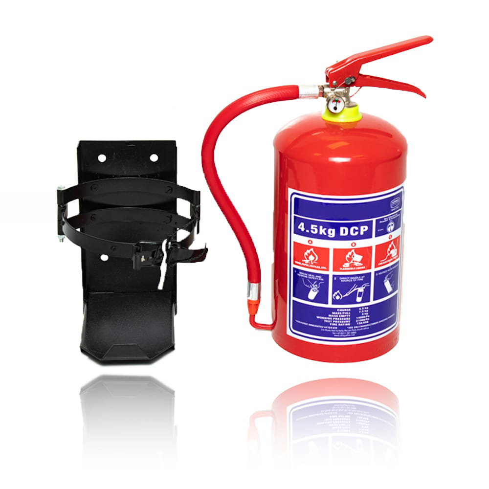 4.5 Kg DCP Fire Extinguisher Bracket Combo By Firstaider