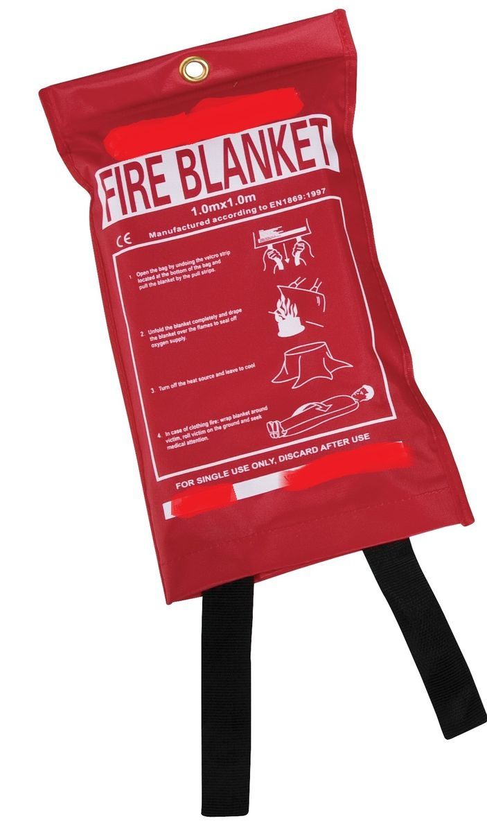 Fire Blanket 1m X 1m (BAG)