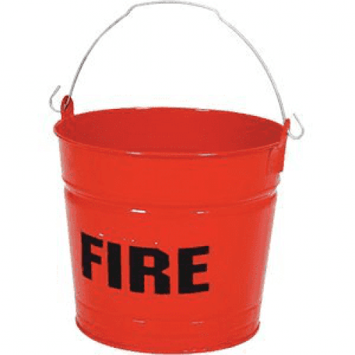 Fire Bucket Flat Bottom
