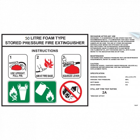 Label FOAM 50L Instruction